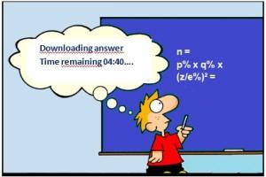 Gebruik een app voor het berekenen van de steekproefomvang...